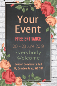 Event Chalkboard Poster Template