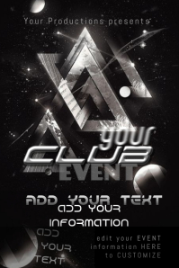 Event Club Bar DJ Moon Galaxy Space Triangle Modern Sleek