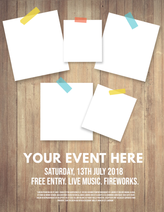 Event collage Pamflet (Letter AS) template