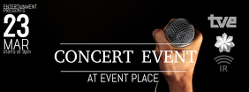 event concert band facebook cover photo template
