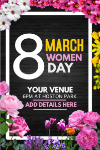 event day template,women day flyer