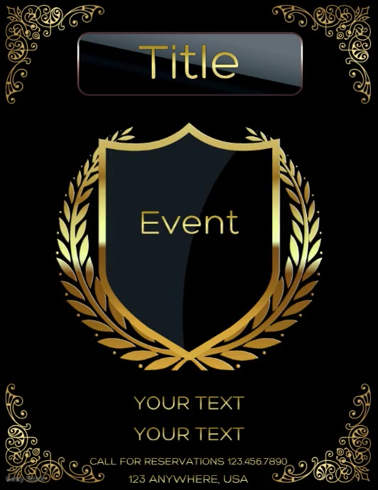 Event Ulotka (US Letter) template