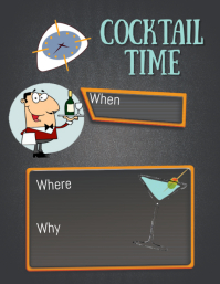 COCKTAIL Flyer (US Letter) template
