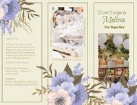 Event Designer Brochure Front Pamflet (VSA Brief) template