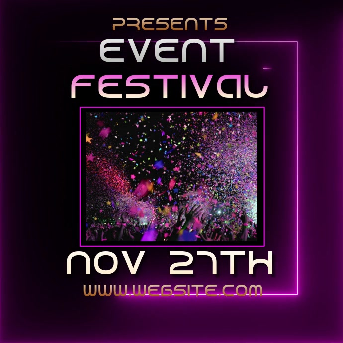 EVENT fest festival ad video digital Logo template