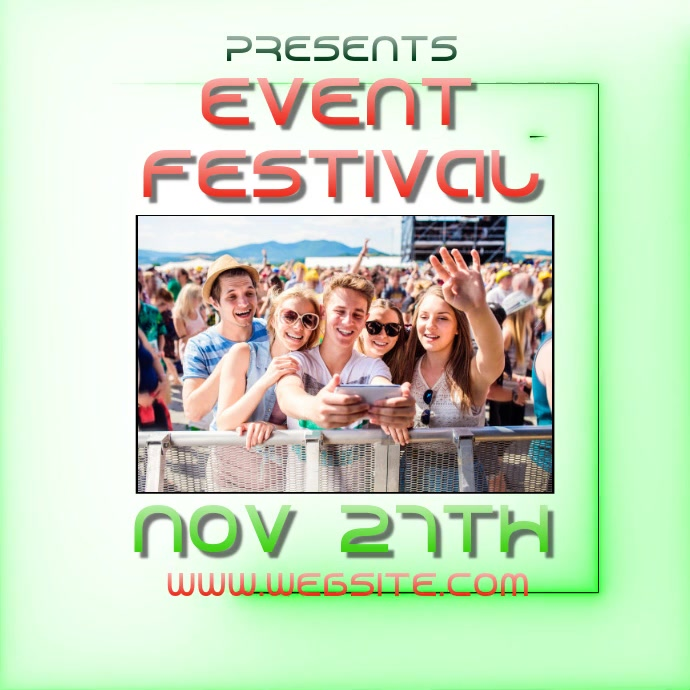 EVENT fest festival ad video digital 徽标 template