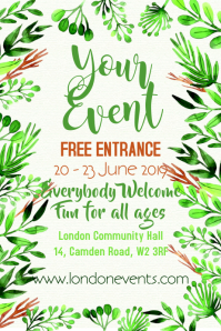 Event Floral Poster Template