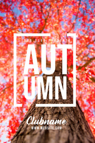 Event flyer, Autumn flyers, Fall flyers