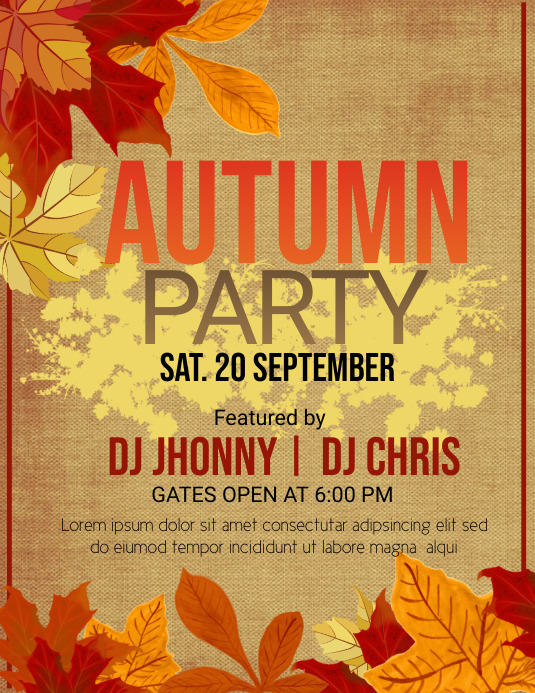Event flyer, Autumn flyers, Fall flyers template