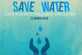Event flyer, Campaign flyer, Save water flyer