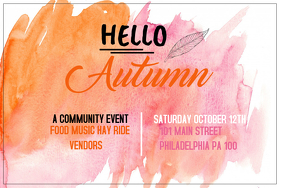 Event flyer, Party flyer, Autumn flyer