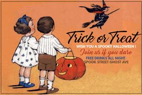 event flyer, party flyer, halloween flyer