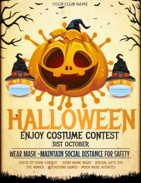 Event flyer, party flyers, Halloween Flyers Pamflet (VSA Brief) template