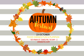 Event flyer, party template,Autumn festival fall