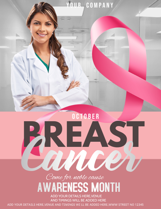 event flyer,Breast cancer awareness day flyer Pamflet (VSA Brief) template