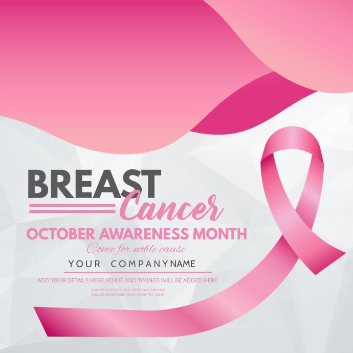 event flyer,Breast cancer awareness day , สี่เหลี่ยมจัตุรัส (1:1) template