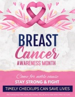 event flyer,Breast cancer awareness flyer