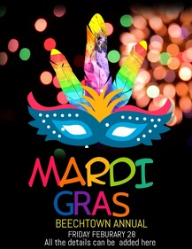 Event flyer,carnival flyers,mardigras flyers