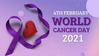 World cancer day,cancer awareness,4th february Encabezado de blog template