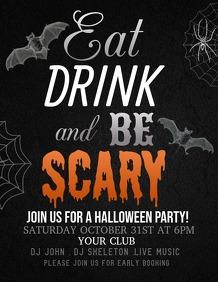 event flyer,Halloween flyer,party flyer