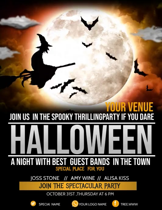 Event flyer,Halloween flyer,party flyers