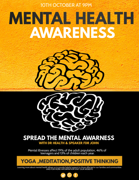 Event Flyer Health Flyers Mental Health Flye Template Postermywall