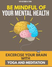 Event flyer,Mental health flyers