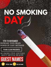 Event flyer,NO smoking day flyers,health