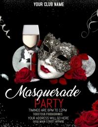 Masquerade flyers,mardi gras flyers