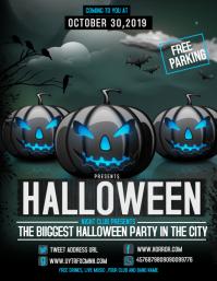 Event flyer,party flyer,Halloween flyer