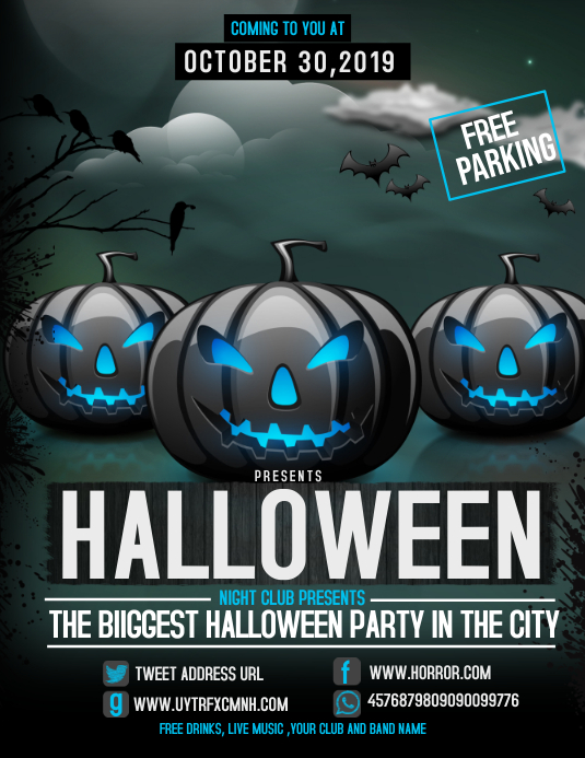 Event flyer,party flyer,Halloween flyer ใบปลิว (US Letter) template