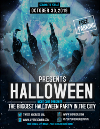 Event flyer,party flyer,Halloween flyer Volantino (US Letter) template