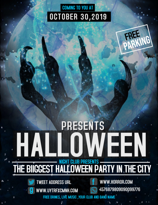 Event flyer,party flyer,Halloween flyer Pamflet (Letter AS) template