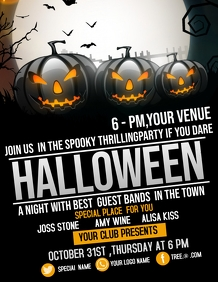 Event flyer,party flyer,Halloween flyers