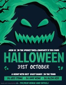 Event flyer,party flyer,Halloween flyers