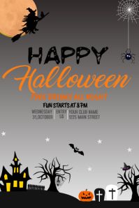 event flyer,party flyer,halloween template