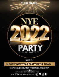 Event flyer,party flyer,new year flyers Pamflet (Letter AS) template
