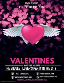 Event flyer,party flyer,Valentine's flyer
