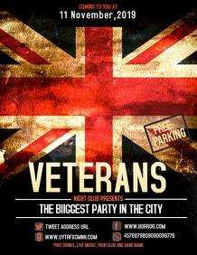 Event flyer,party flyer,Veterans flyer