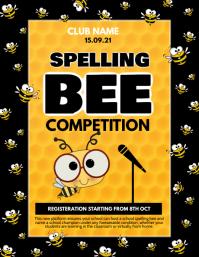 Event flyer,spelling bee flyer template