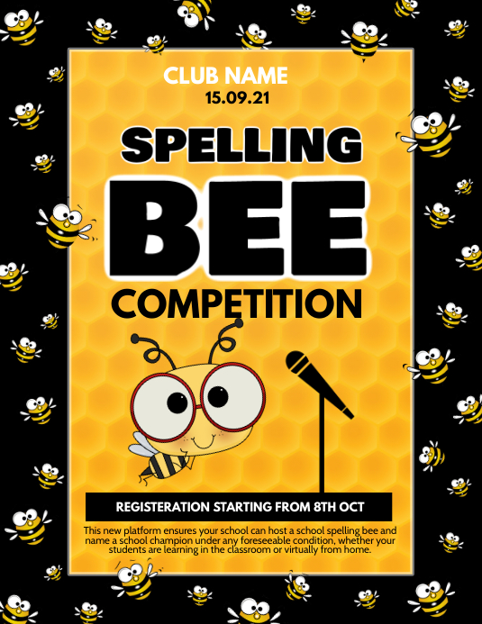 Event flyer,spelling bee flyer