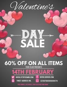 Event flyer,Valentine's Retail flyer
