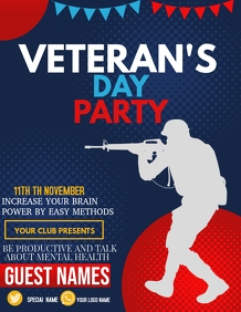 Event flyer,Veteran's day flyers