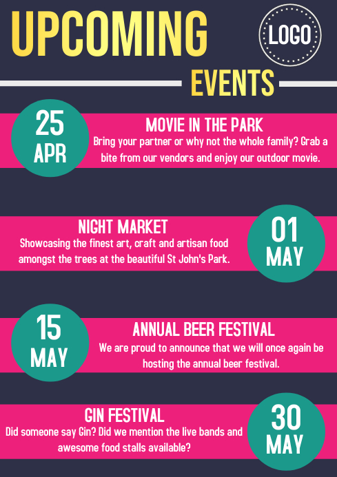 Upcoming Events Flyer Template Event Flyer Templates Postermywall