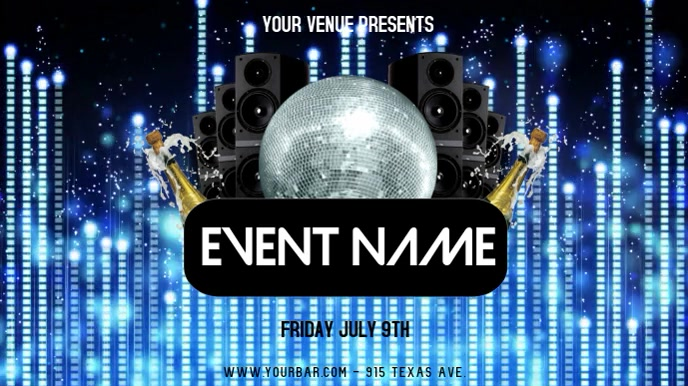 EVENT FLYER Display digitale (16:9) template
