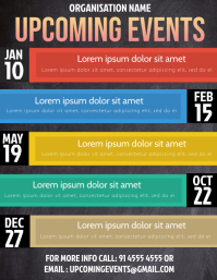 Event flyer Рекламная листовка (US Letter) template