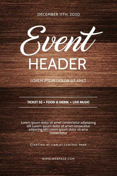 Event Flyer Design Template