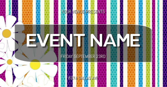 EVENT FLYER delt Facebook-billede template