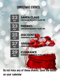 Christmas Giveaway Flyer.31 880 Christmas Sale Event Flyer Customizable Design
