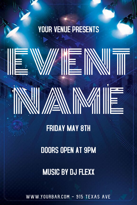 EVENT FLYER Poster template